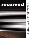 reserved table. a tag of... | Shutterstock . vector #1108324991