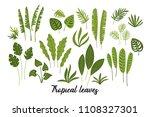 vector set of abstract tropical ... | Shutterstock .eps vector #1108327301