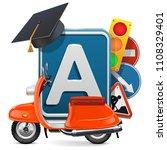 vector driving school concept...   Shutterstock .eps vector #1108329401