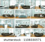 set of modern living room... | Shutterstock . vector #1108330571