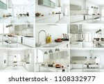 3d illustration set of kitchens ... | Shutterstock . vector #1108332977