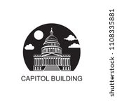 united states capitol building... | Shutterstock .eps vector #1108335881
