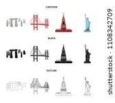 sights of different countries... | Shutterstock .eps vector #1108342709