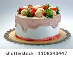 delicious strawberry cake | Shutterstock . vector #1108343447