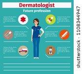 future profession dermatologist ... | Shutterstock . vector #1108344947