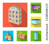 building and architecture flat... | Shutterstock .eps vector #1108348115