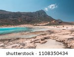 beautiful beach on the island... | Shutterstock . vector #1108350434