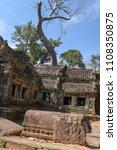 ta prohm temple at angkor wat... | Shutterstock . vector #1108350875
