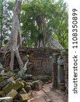 ta prohm temple at angkor wat... | Shutterstock . vector #1108350899