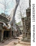 ta prohm temple with giant... | Shutterstock . vector #1108350905