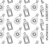 line hard liquor and wiskey...   Shutterstock .eps vector #1108357397