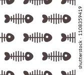 cartoon fishbone. seamless... | Shutterstock .eps vector #1108359419