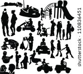 set of people silhouettes... | Shutterstock .eps vector #110836451
