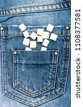 refined sugar on denim... | Shutterstock . vector #1108377581