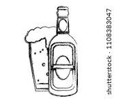 grunge liquor schnapps bottle...   Shutterstock .eps vector #1108383047