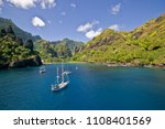 sailing yachts anchoring in the ... | Shutterstock . vector #1108401569