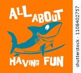 vector shark print | Shutterstock .eps vector #1108402757