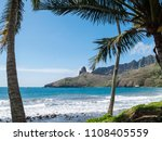 landscape with beach and... | Shutterstock . vector #1108405559