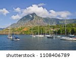 sailing yachts ancoring in... | Shutterstock . vector #1108406789