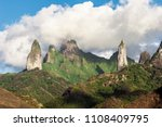 approaching ua pou island from... | Shutterstock . vector #1108409795