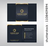 business model name card luxury ... | Shutterstock .eps vector #1108409894