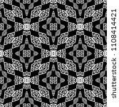 greek black and white seamless... | Shutterstock .eps vector #1108414421