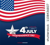 4th of july  united stated... | Shutterstock .eps vector #1108436837