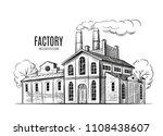 industrial factory vector hand... | Shutterstock .eps vector #1108438607