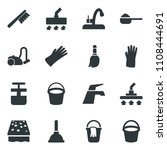 black vector icon set bucket... | Shutterstock .eps vector #1108444691
