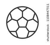 football outline icon soccer... | Shutterstock .eps vector #1108447511