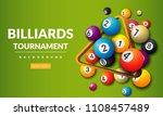 pool billiards tournament... | Shutterstock .eps vector #1108457489
