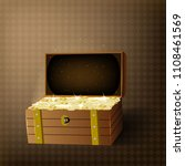 trunk chests with gold coins... | Shutterstock .eps vector #1108461569