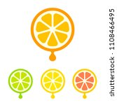 modern and simple citrus juice... | Shutterstock .eps vector #1108466495