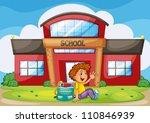 illustration of a boy infront... | Shutterstock .eps vector #110846939