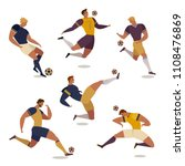 football soccer player set of... | Shutterstock . vector #1108476869