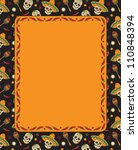 mexican frame with skulls.... | Shutterstock .eps vector #110848394
