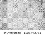 ceramic tiles textures and... | Shutterstock . vector #1108492781