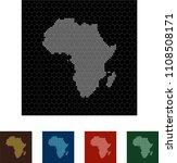 map of africa   Shutterstock .eps vector #1108508171