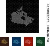map of canada   Shutterstock .eps vector #1108508189