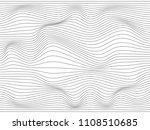 warped lines.wavy lines made... | Shutterstock . vector #1108510685