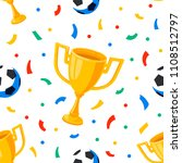 football cup  balls and... | Shutterstock .eps vector #1108512797