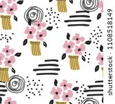 seamless pattern with cute...   Shutterstock .eps vector #1108518149