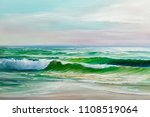 morning on sea  wave ... | Shutterstock . vector #1108519064