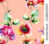 seamless pattern with original... | Shutterstock . vector #1108523591