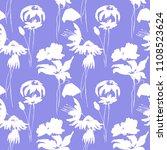 floral seamless pattern  tile... | Shutterstock . vector #1108523624
