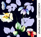 seamless pattern with colorful... | Shutterstock . vector #1108523654
