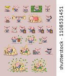 set kit collection vector... | Shutterstock .eps vector #1108531451