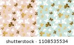 pale color and gold butterfly... | Shutterstock .eps vector #1108535534