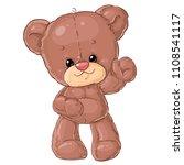 teddy bear. children character.    Shutterstock .eps vector #1108541117