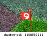 hole number 9  golf course ... | Shutterstock . vector #1108583111